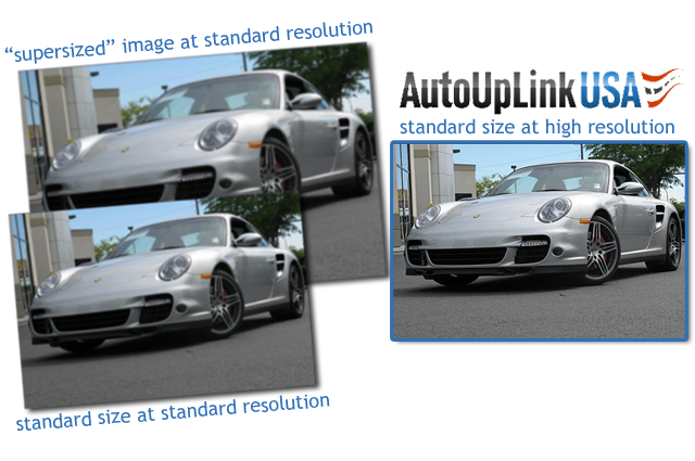 AutoUpLinkUSA Mid-Atlantic example of high resolution images versus enlarged images